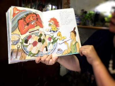 お楽しみは「まゆとおに」の読み聞かせ。素敵な絵本でした。
