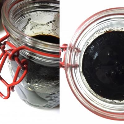 自家製コーヒーリキュール。コーヒー豆+ブランデー+氷砂糖。美味!