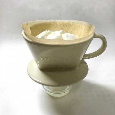 コーヒーのペーパーフィルターを使うと簡単。